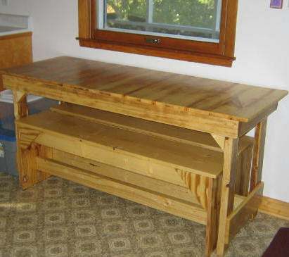 Free Kitchen Table Plans Trestle How To Build A